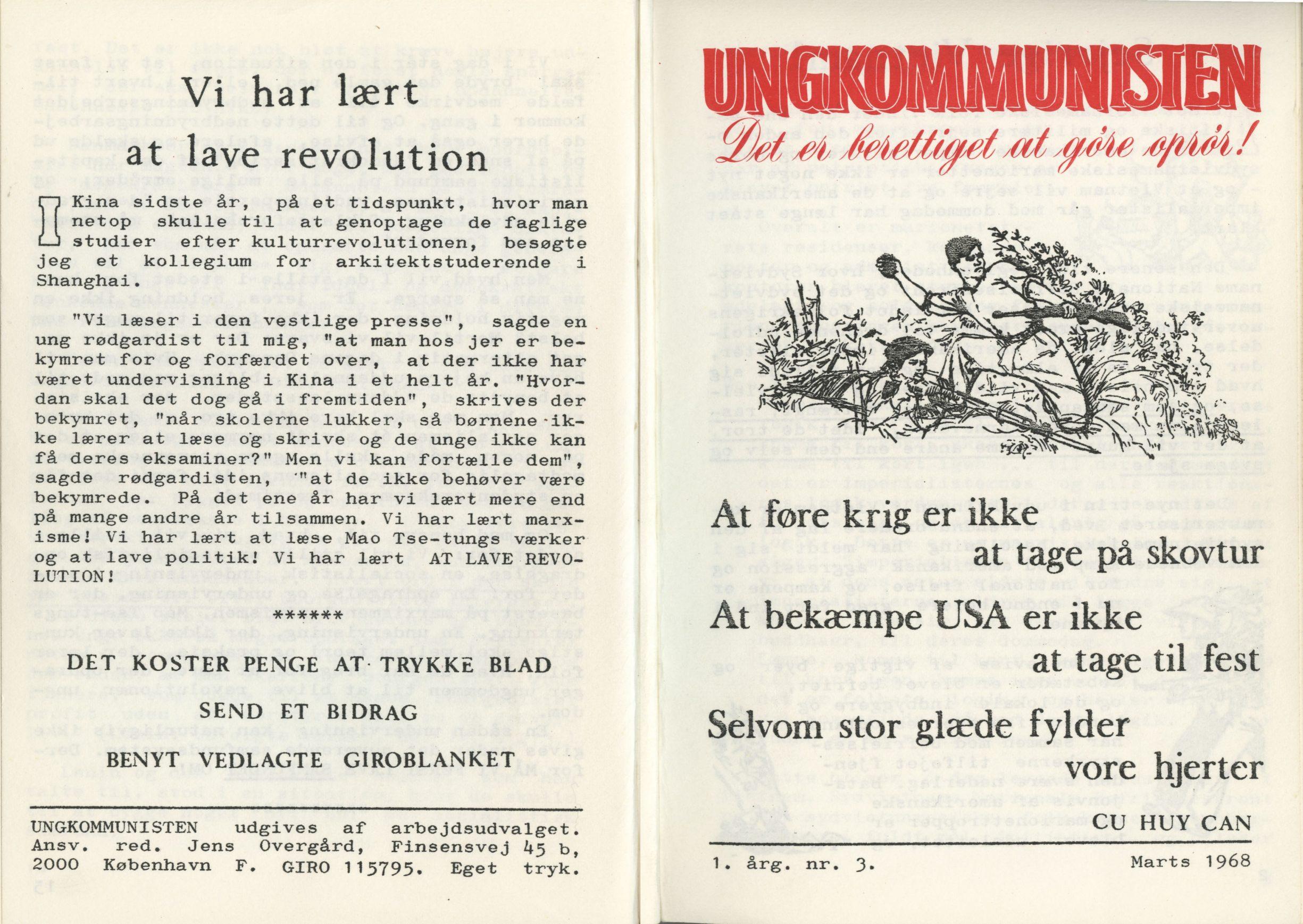 Ungkommunisten 1968, nr. 3, for- og bagside