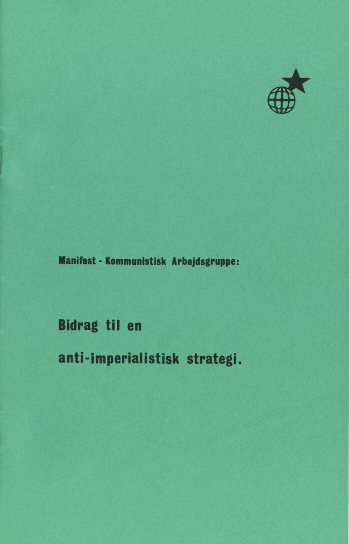 Forsiden af Bidrag til en anti-imperialistisk strategi