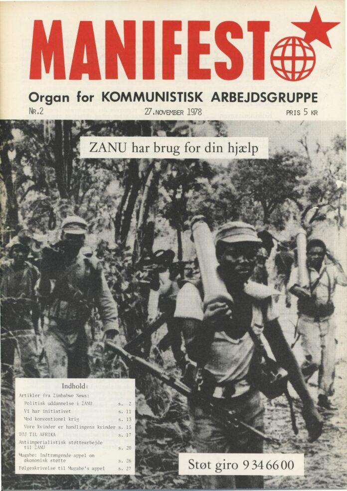 Forsiden af Manifest nr. 2, 1978.