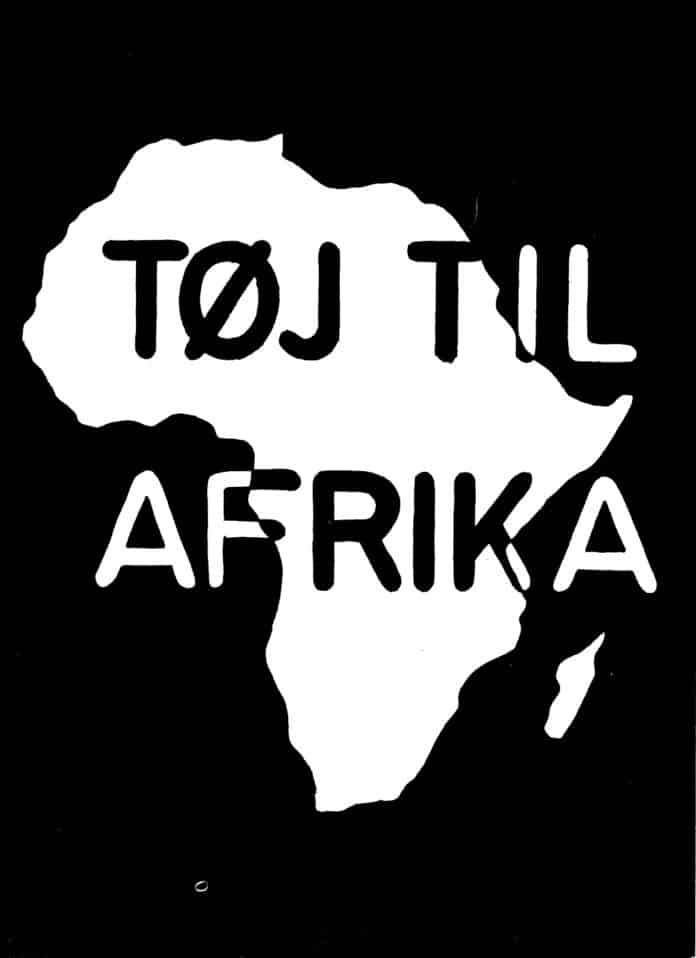 Forside af Folder om Tøj Til Afrika