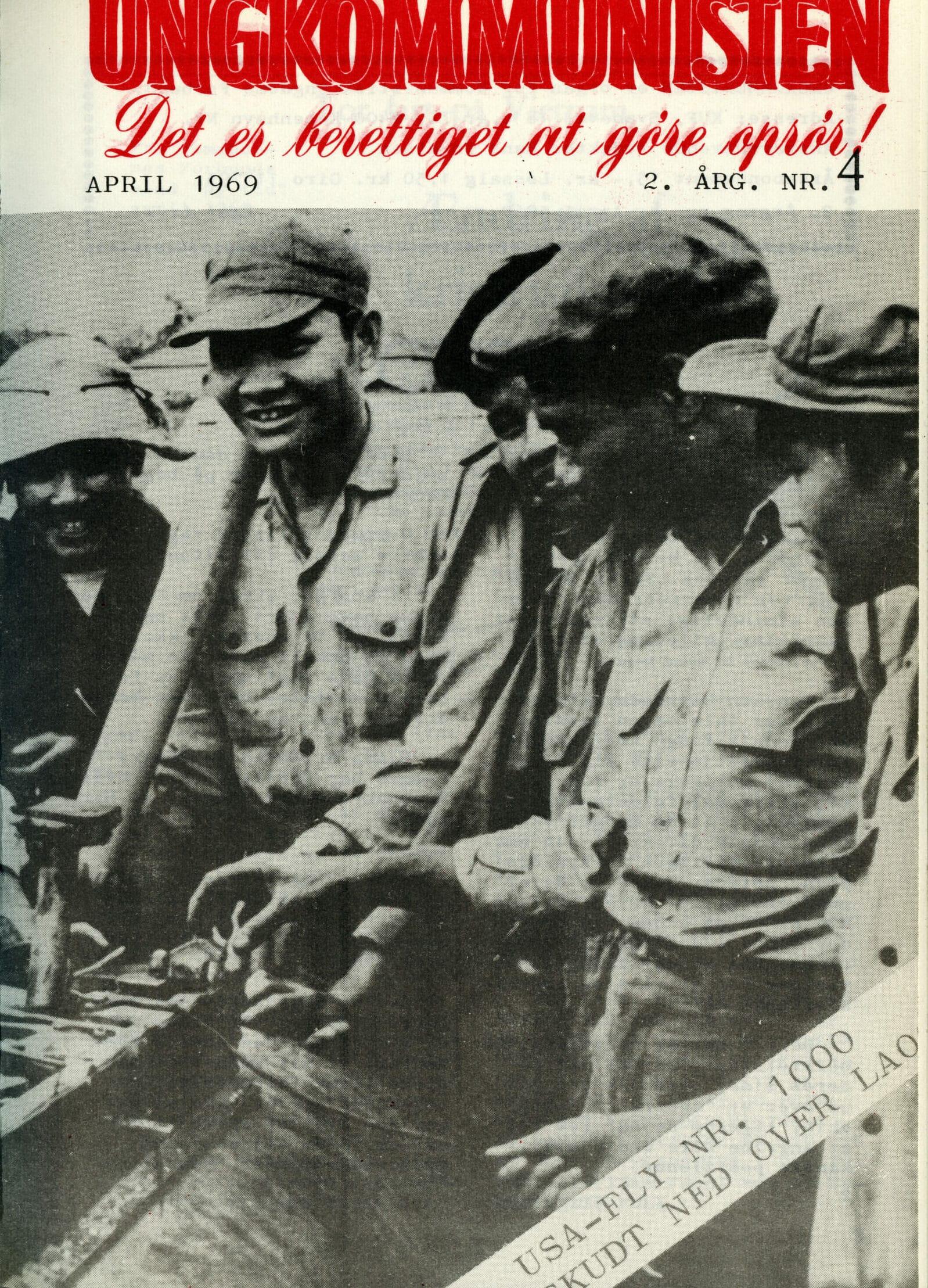 Forsiden af Ungkommunisten 1969, nr. 4