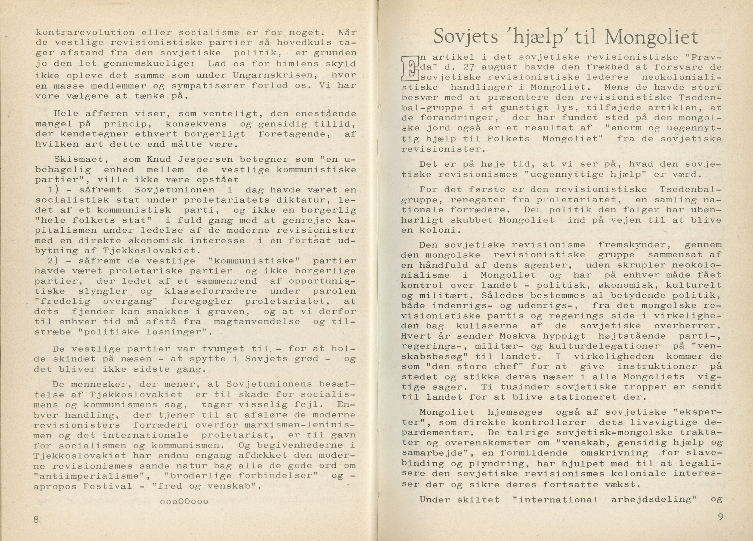 Ungkommunisten1968, nr. 9, s. 8-9.