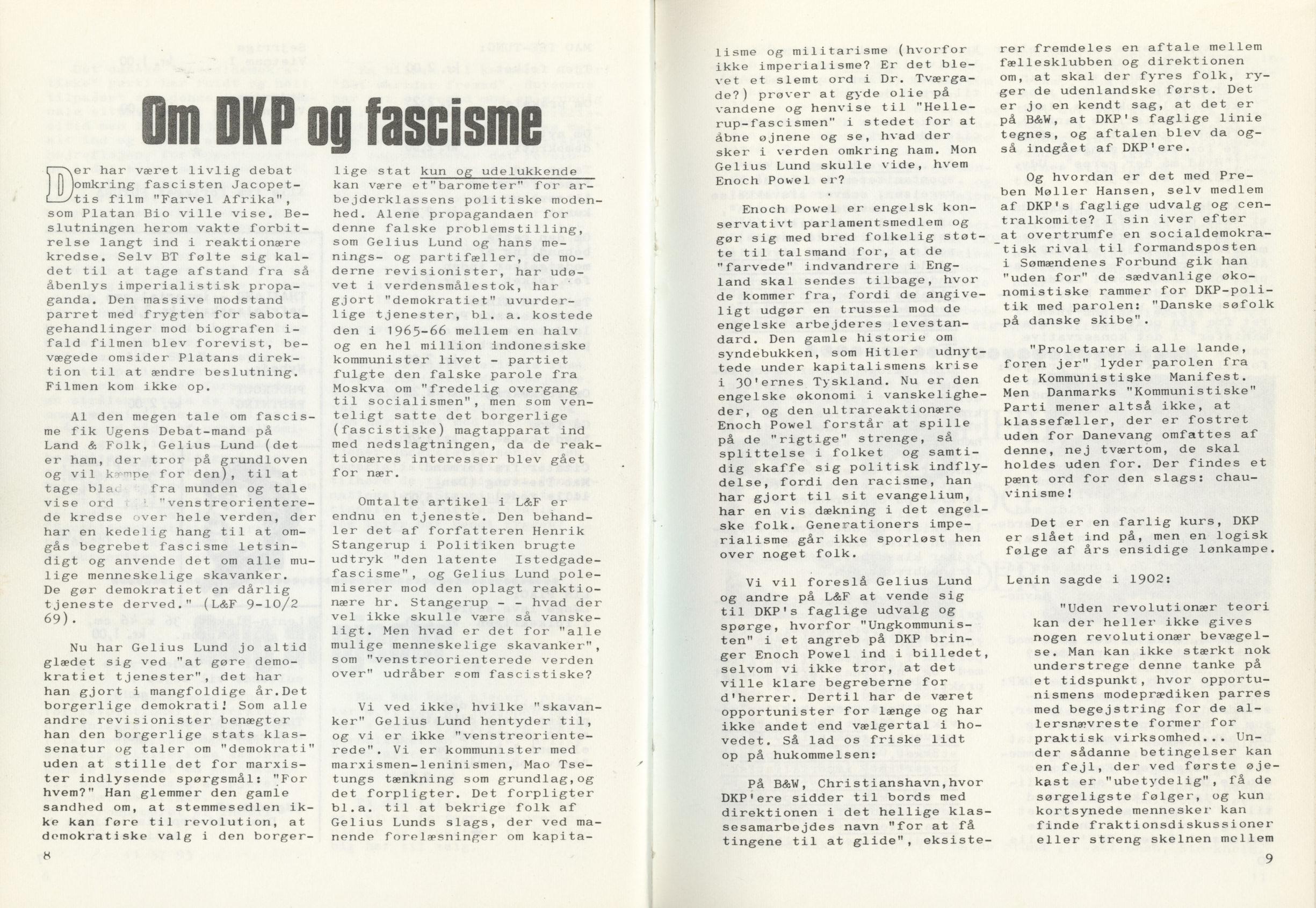 Ungkommunisten1969, nr. 4, s. 8-9.